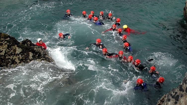 Coasteering Newquay Cornwall