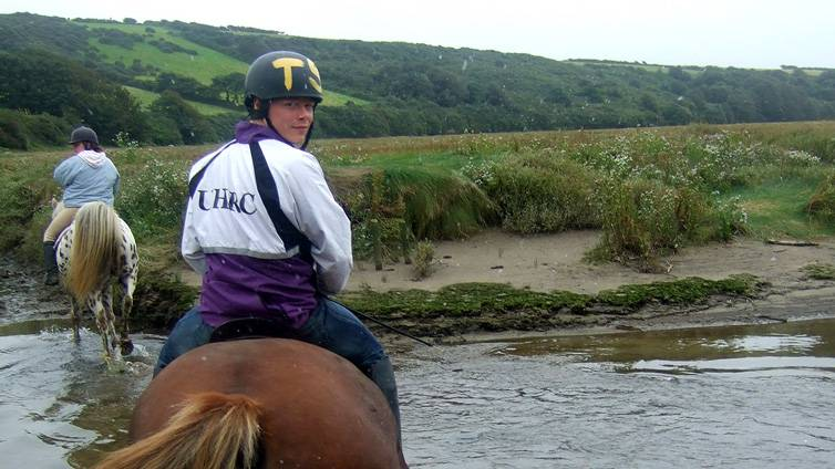 Horse Riding Gannel Estuary Newquay Cornwall