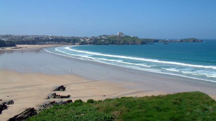 Newquay Bay Cornwall Low Tide
