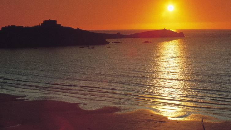 Newquay Bay Sunset Cornwall