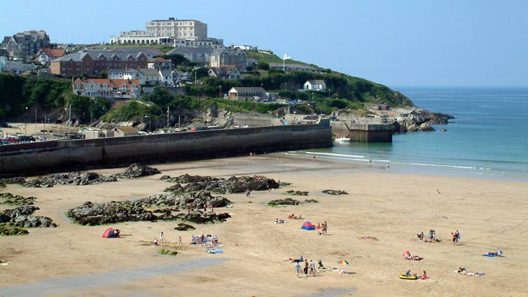 Towant Beach Newquay Cornwall